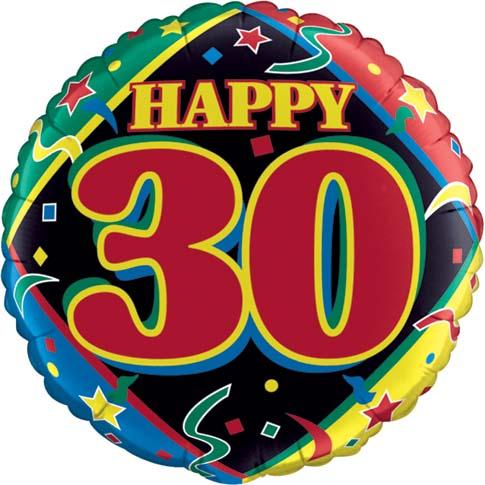 30th Birthday Balloon Mitchell Flowers Carraroe Florist